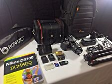 Nikon D3300 fotocamera DSLR con 18-55mm AF-S DX Zoom Lens + Accessori Bundle