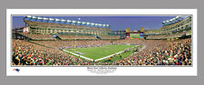 New England Patriots MOON OVER GILLETTE STADIUM Game Night Panorama Poster Print