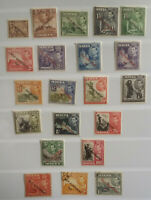 Malta 1948 - 1953 KG VI Definitives set Landmarks MH + 3 Used