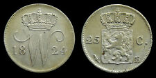 Netherlands - 25 Cent 1824 B