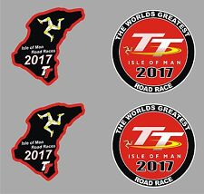 4 x Isle of Man TT Race stickers 2017