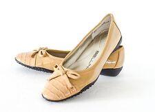 Bellini GUAFAN Tan Patent leather Ballet Flats Shoes 5.5M