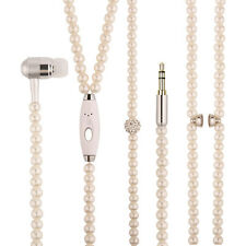 White Pearl 3.5mm In-ear Stereo Earphone Earbud Headphone for Cellphone Computer