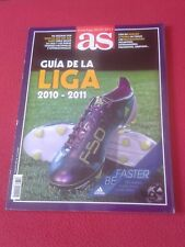 GUÍA AS LIGA 2010-2011 FÚTBOL, FOOTBALL JUGADORES PLAYERS, SPANISH LEAGUE SPAIN