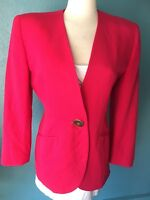 Christian Dior Pucha Pink Orchid Wool Womens Business Blazer Jacket US Size 8
