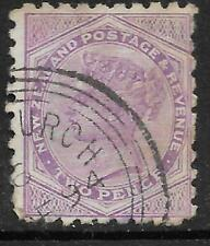 NEW ZEALAND 1882 Queen Victoria 2d Purple USED (No 4)