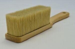 Pure Bristle Hand Sweeping Brush. Natural Bristle Banister Brush. Wooden Stock.