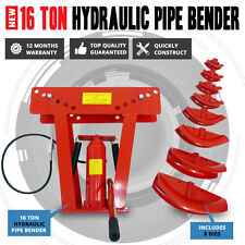 16 Ton Air & Hydraulic Operated Pipe Bender With 8 Dies Bending Jack Machine