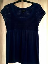 Ladies A-line Crochet Knit Top - INC By Macy's New York Size Large Approx 16