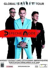 """Depeche Mode """"Global Spirit Tour"""" 2017 Salt Lake City Concert Poster - Synthpop"""