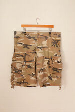 Vintage Lee Camuflaje Pantalones Cortos Marrón Claro (W38)