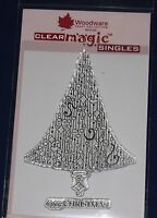 NEW Woodware 'Delightful Dangles - Christmas Tree ' Clear Stamp JGS356