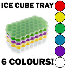 Silicone Ice Cube Tray | Honeycomb Shape With Lid | 6 Colours