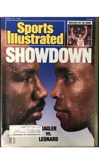 Marvin Hagler & Sugar Ray Leonard Unsigned Sports Illustrated March 30 1987