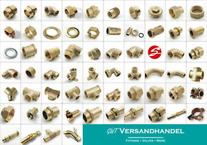 Messing Gewindefittings   1/4 - 2 Zoll   EU Produkt Winkel Doppelnippel T-Stück
