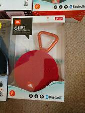 JBL Clip 2 NEW Portable Wireless Bluetooth Speaker - RED 8hr battery
