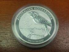 2016 Australian Kookaburra .999 Fine Silver In Capsule