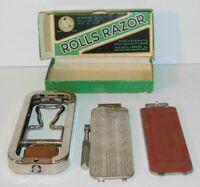 VTG Rolls Razor Whetter Imperial No 2 Made in England Original Box 1926 Strop