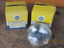 NOS (2) GE Sealed Beam Lamp 50 Watt 12  Volt Spot Chevy Rat Rod Ford Mopar