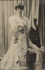 SM Elisabeth Reine Queen of Belgium Belges c1910 Real Photo Postcard