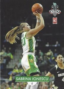 * SABRINA IONESCU * OREGON DUCKS TRADING CARD #1 WNBA NY LIBERTY ROOKIE DRAFT