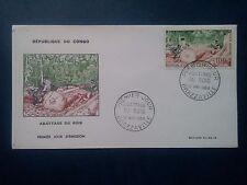 L741. Enveloppe 1er Jour 1964. Congo Brazzaville, Abattage du bois