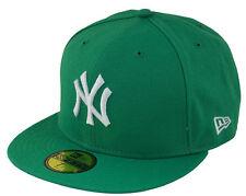 New Era NY New York Yankees Cap Green Grün MLB 5950 Basic Fitted Team Baseball