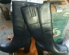 "Jazzberry boots knee high 3"" heels size 8"