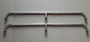 Pair of stainless steel 1000mm marine grade 316 boat grab rails/handles 22mm