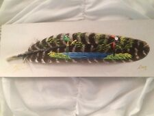 Costa Rica Painted Feather Of Macaw And Water Scene
