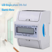 Digital LCD Single-phase DIN-Rail Electric Meter 10-40A Electronic KWh Meter