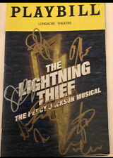 Lightening Thief Musical Broadway Cast Complete Signed Playbill Percy Jackson