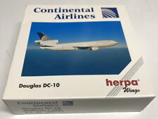 Herpa Wings Continental Airlines McDonnell Douglas DC-10 Jet 1:500 NIB •