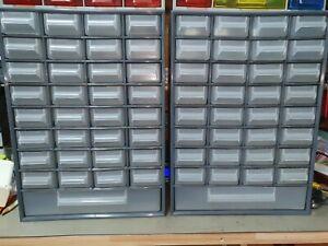 2 Kleinteilemagazine ähnlich Allit mit je 33 Fächern grau (415 x 297 x 145mm)