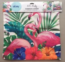 18 Inch Flamingo With Donuts Pillow Case//zipper Closure//Home Décor//Tropical//