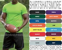 Mens Wicking Performance T-Shirt NEW 100% Athletic Poly Moisture S-XL 2X 3X NEW