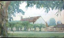 William Benecke - European Country Home - Original Mixed Media - Chicago artist