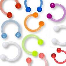 8er Set Set Augenbrauen Lippen Circular Barbell Hufeisen Piercing  Bioflex 10mm