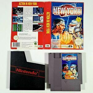 ©1991 Infogrames/Nintendo NES PAL-B Game ACTION IN NEW YORK Rare German Version