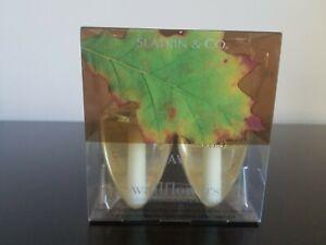 NEW Slatkin Leaves Wallflowers 2 Bulbs refill Bath & Body Works