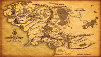 Map of Middle Earth The Lord of the Rings Map Wall Print POSTER Decor