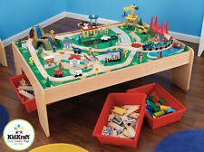Kidkraft Waterfall Mountain Train set and Table | Wooden Train Set | Train Table