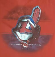 Vintage CLEVELAND INDIANS MLB PRO PLAYER T-SHIRT Large BANNED CHIEF WAHOO LOGO