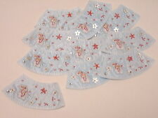 10 x Embroidered Pale Blue Butterfly Flower Bead Arts Crafts Making Motifs#12E57
