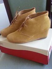 CLARKS ORIGINALS womens mustard leather/suede YARRA DESERT ankle boots SIZE 7.5