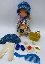 Vintage 1975 Holly Hobbie Doll Play Set Original Knickerbocker & accessories