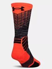 New UNDER ARMOUR UA Mens Basketball Crew Socks Phoenix Fire Size M 4 - 8.5