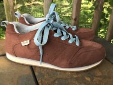 Vintage VANS Brown Suede & Light Blue Skate Sneakers Shoes Womens Size 8 👞b5
