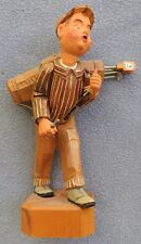 Vintage Anri Hand Carved Wooden Figurine Large Golfer 7 Inches
