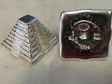 "1 KILO YPS 3D 999 Fine Silver ""Aztec Pyramid"" Yeager's Poured Silver Hand Poured"